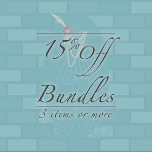 Other - 15% Off Bundles of 3 items or more!